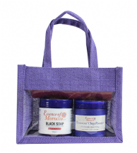 Moroccan Hammam Kit: Exfoliating Kessa Glove, Beldi Black Soap, Rhassoul Clay